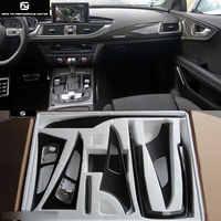 A6 C7 de interior de fibra de carbono cubierta de la manija de la puerta para Audi A6 C7 coche kit de cuerpo 12-16