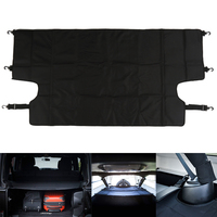 Black Cargo Cover Included 6 Tie Down D Rings For Jeep Wrangler JKU Sports Sahara Freedom