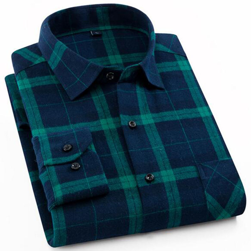 2019 Men Long Sleeve Flannel Pure Cotton Single Breasted Shirts Camisa,Turn-down Collar England Style Comfortable Shirts Tops