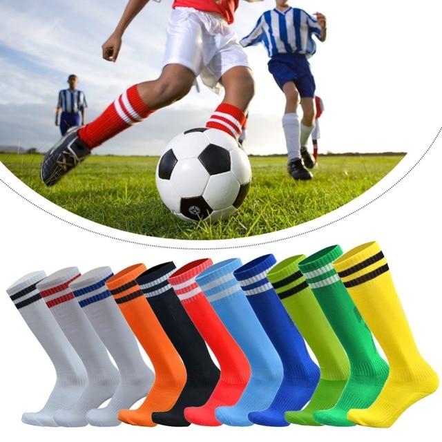 789a9e5e6 Professional sports Men Women Boys thick breathable Tennis Running Soccer Stockings  Socks Knee High Football stripe Sock 284468