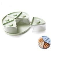 Fruit Snacks Divided Storage Boxes Kitchen Container Food Sealed Case Home Kitchen Orginization 5 Grid Storager Box