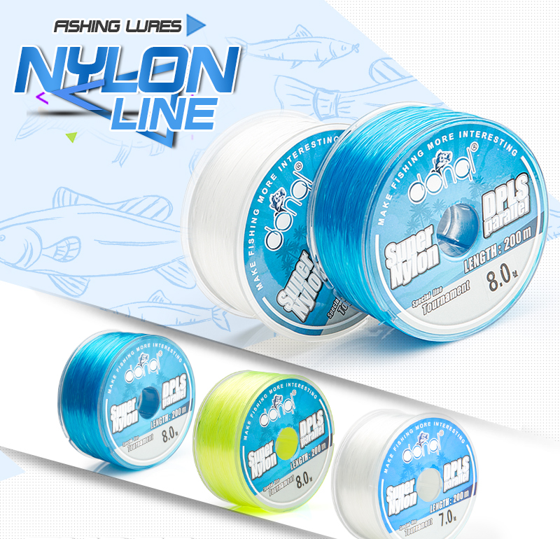 DONQL New 200m Nylon Fishing Line Super Strong Monofilament Wire 2-27LB Saltwater Freshwater Fly Fishing Line With Box Tool (1)