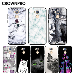 Coque For Huawei Honor 6A Case Silicone Black Honor 6A Case Print TPU Bumper For Huawei Honor6A 6 A DLI-TL20 Phone Back Cover(China)
