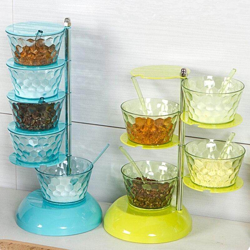 Online Kitchen Supplies: Hot Sale Rotatable Seasoning Box Salt Pepper Set Spice