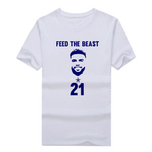 "Hot Cowboys Zeke Elliott t shirt ""feed the beast"" T-Shirt 100% Cotton dallas T shirt 1231-10"