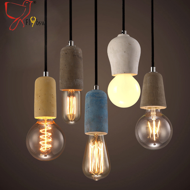 Vintage cement lamp pendant light American Country Style E27/E26 ...