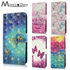 3D Painting Flip PU Leather Case For Xiaomi Redmi 4X 4A 5A Note 4X / Note 5A PU Leather + Soft Silicon Wallet Cover Cases Coque