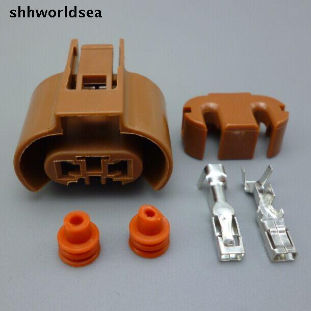 shhworldsea 5/30/100sets 2.8mm 2Pin 9006 HB4 Auto Dipped headlight plug,Car 9006 lampholder connector for Toyota,Corolla,Camry
