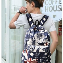 Ретро хип-хоп мода Школьные ранцы для подростка мальчика Обувь для девочек Национальный флаг граффити холст рюкзак дорожная сумка рюкзак Mochila
