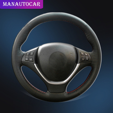 Auto Braid On The Steering Wheel Cover for BMW E70 X5 2008-2013 E71 X6 2008-2014 Interior Car-styling Car Steering Wheel Covers suede leather steering wheel cover for bmw e70 x5 2008 2013 e71 x6 2008 2014 braid on the steering wheel capa para volante
