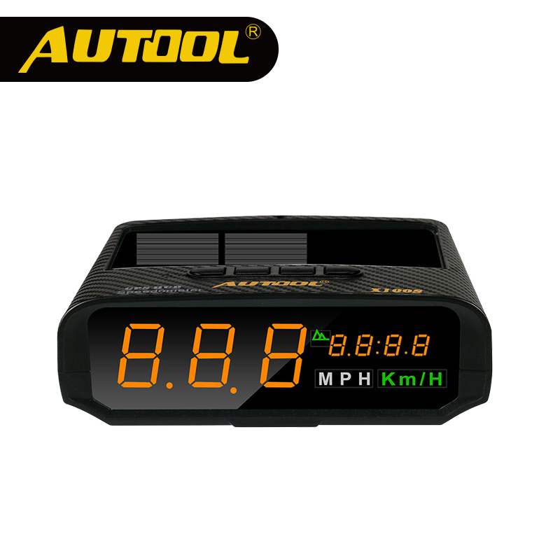 Autool X100S Solar Charge HUD Autos Car Head up Display Spees