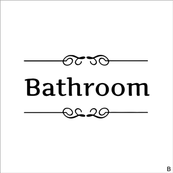 [Hot New Product] Text Wall Stickers Toilet Bathroom Door Vinyl Classic Black And White Decorationl Art Stickers Free Shipping 8