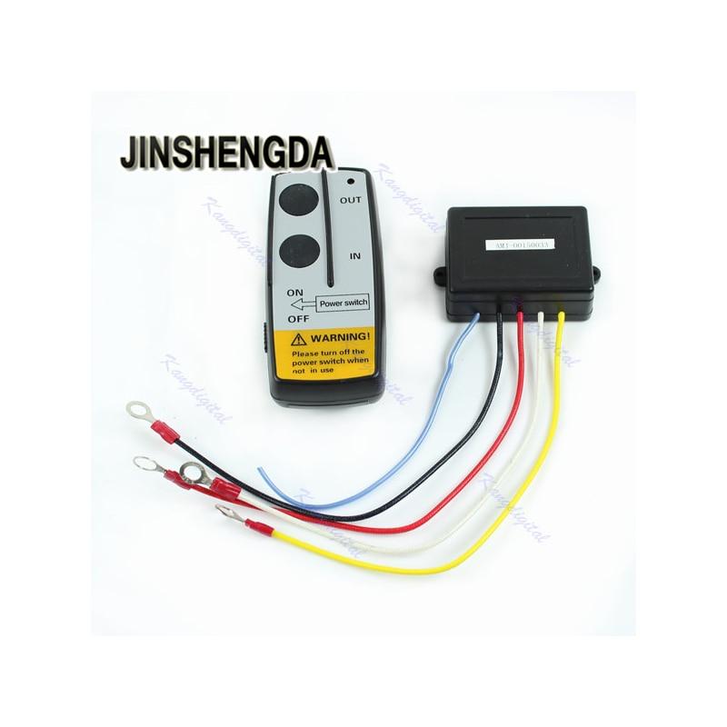 JINSHENGDA Remote Control Universal Electric Winch Wireless Remote Control Kit 12V For Truck Jeep ATV Warn Ramsey