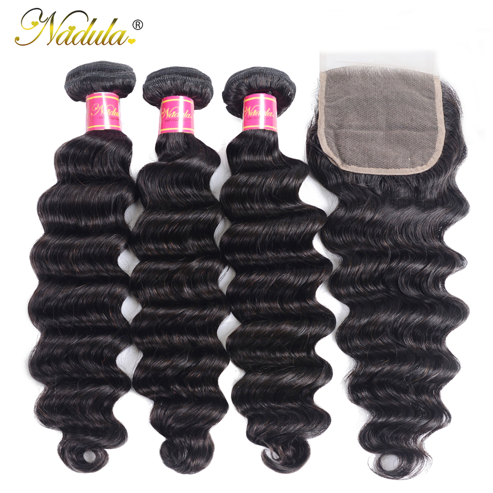 Nadula Hair Loose Deep Bundles With Closure    Bundles With Closure  Hair Bundles With Closure 2