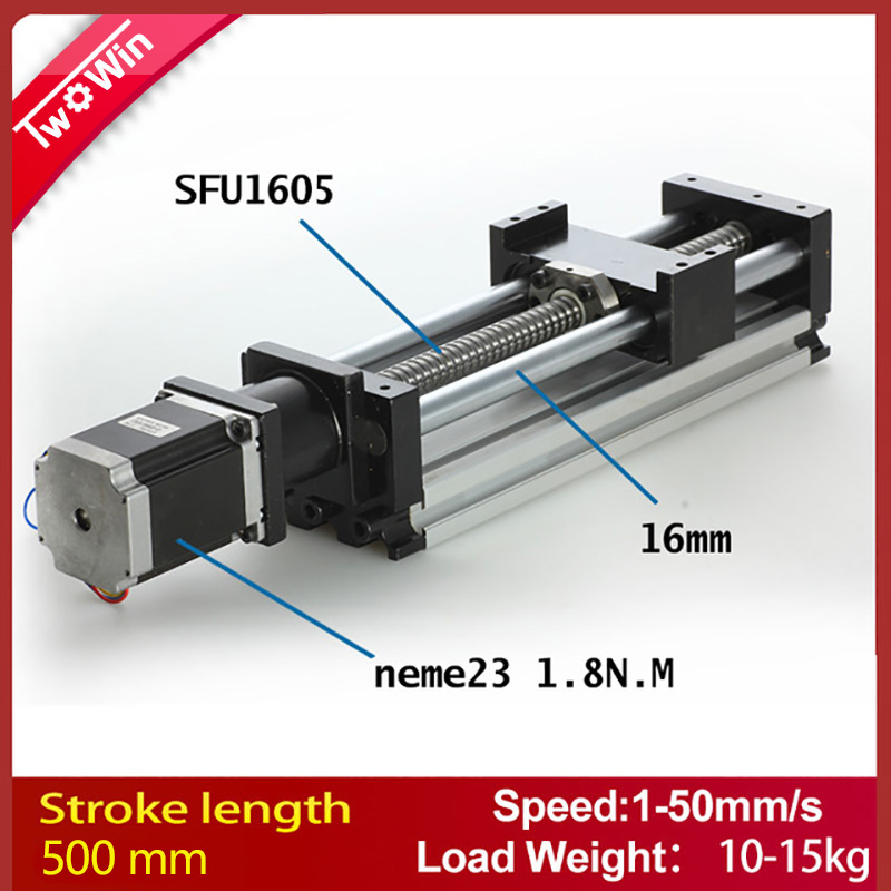 Linear Actuator system Linear Module Table 500mm travel length CNC Guide 1605 Ballscrew Sliding Table