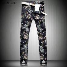 3D Parrot Printing Jeans Men Casual Ripped Jeans Men's Casual Slim Straight Jeans Tide 3d Printed Wiht Animal Long Denim Pants