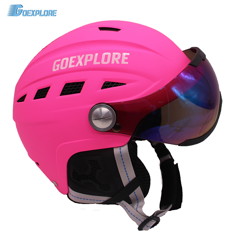 Goexplore Skiing helmet Children Adult integrally molded lightweight With PC Colorful visor Snowboard Snow Skateboard helmet 6 5 adult electric scooter hoverboard skateboard overboard smart balance skateboard balance board giroskuter or oxboard