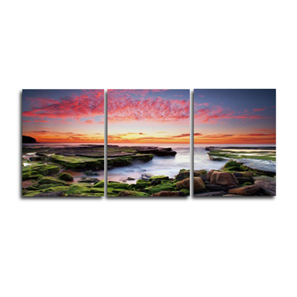 Natural Scenery Vintage 3 Panel Wall Artwork Canvas Oil Painting Poster for Living Room Home Decor Wedding Decoration No Frame in Painting Calligraphy from Home Garden