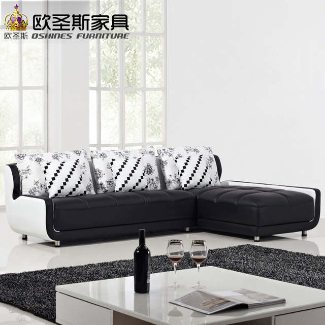 Online Shop French Style New Sofa Design Black And White Small Size