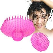 Массажной мытья щеткой гребень шампунь массажер головы случайный душ тела цвет