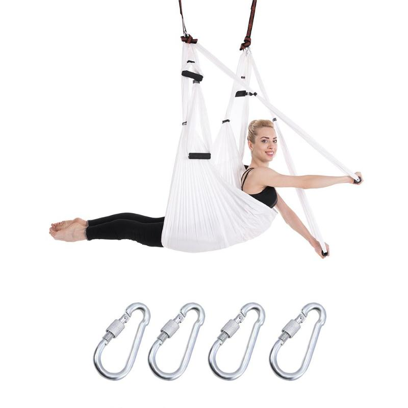 Fly Aerial Yoga Hammock Anti-Gravity Parachute Fabric Yoga belts Traction Swing Parachute For Yoga training Gym Hanging 2 5m 1 5m bearing 500kg elastic exercise yoga hammock aerial swing anti gravity yoga belt inversion trapeze hanging gym traction