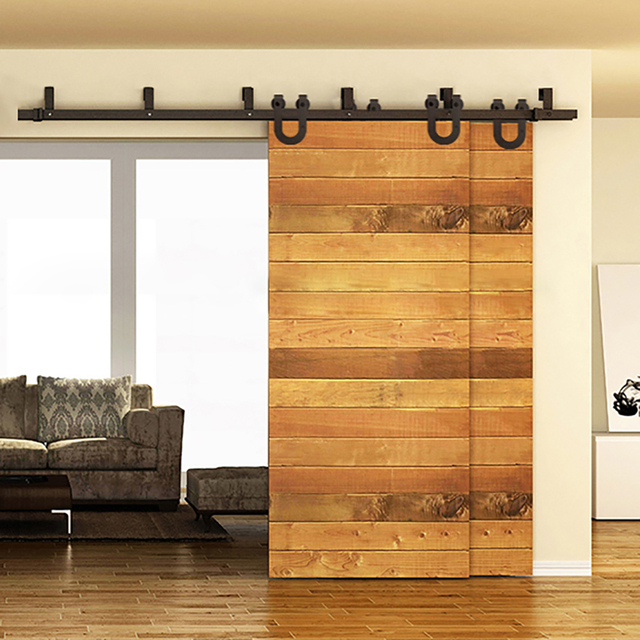 5ft 8ft fer cheval porte coulissante raccords grange. Black Bedroom Furniture Sets. Home Design Ideas