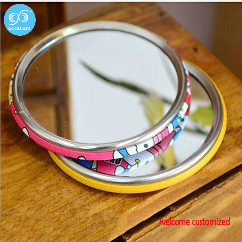 promotional small gifts fashion makeup mirror decorative mirror with custom logo - Small Decorative Mirrors