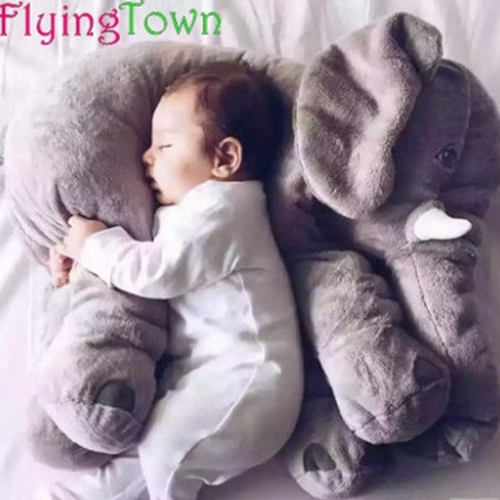 60CM Placarders pillow Large Plush Elephant Toy Kids Sleeping Back Cushion Elephant Doll Baby Doll Birthday Gift Holiday Gift in Stuffed Plush Animals from Toys Hobbies