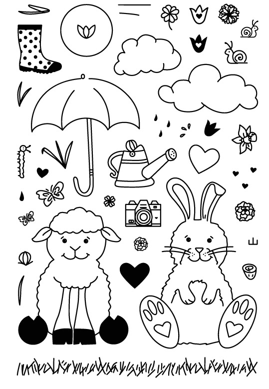 Rabbit/sheep/umbrella/transparent Clear Stamps For Diy Scrapbooking/card Making/kids Christmas Fun Decoration Supplies Stamps