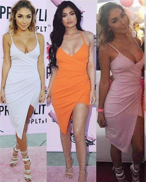 Ночной клуб платье нерегулярные подол подол высокой талии платье высокого качества