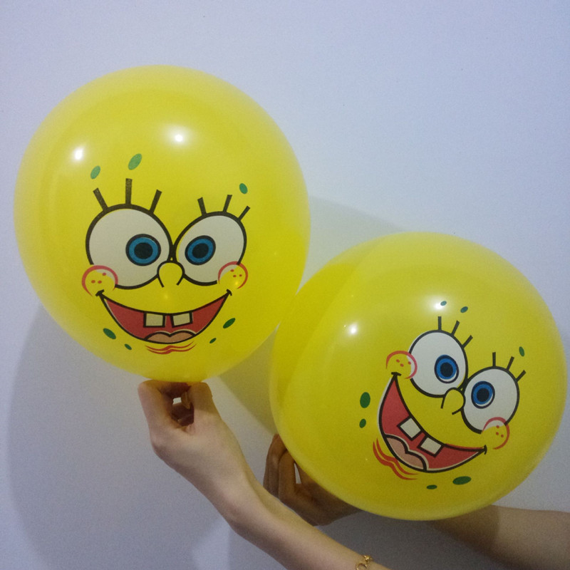 100pcs 12 inch Sponge Bob Latex Balloons Wedding Party decorations air latex Balls happy birthday balloons event party Supplies
