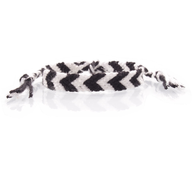 Multiple Choice Chevron Friendship Bracelet Clic Black White Thread Woven Arrow Wayuu Female Male Summer