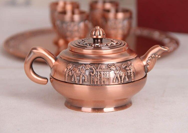 chinese 6pcs teaware sets Tea Trays Teapots 4 teacups japanese teapot glass tea pot tray kung fu peony tea pu'er business gifts