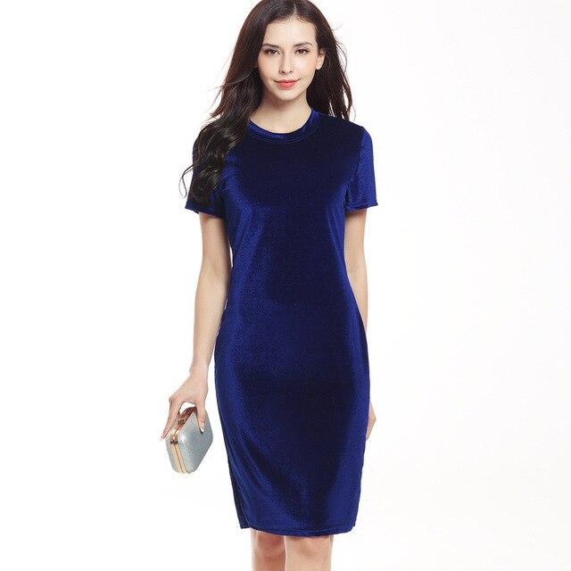 Women Velvet Slim Pencil Dress