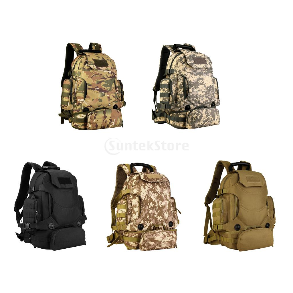 40L Molle Nylon Outdoor Sports Camping Hiking Fishing Hunting Trekking Mountaineering Climbing Waterproof Backpack Rucksack Bag 40l nylon 900d outdoor sports tactical military backpack camping cycling hiking climbing rucksack waterproof hunting sports bag