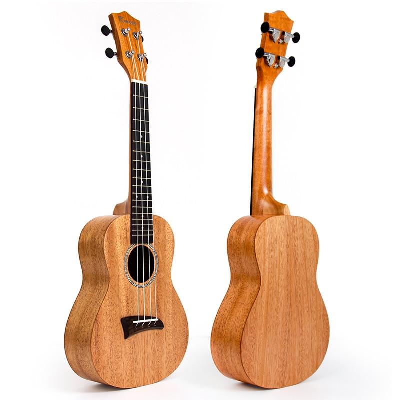 Kmise Ukulele Tenor Concert Solid Mahogany Ukelele 23 26 Inch Uke 4 String Hawaii Guitar