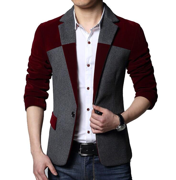 2015 nueva moda de rombos hombres de chaqueta del otoño