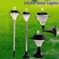 New &Super bright 24leds Solar lights Decor garden lamp Solar street light Outdoor led Lawn Light A/B/C/D 4 Options For Sale