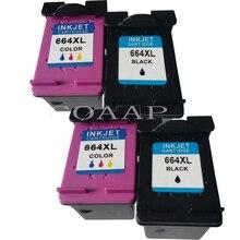 Заполняемый картридж для чернил для hp664 с чернилами hp Deskjet 2600 5000 5200 серии новый принтер