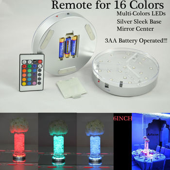5*AA 6Inch Holiday Lighting LED Vase Light With Remote Multicolors Light Base Display For Wedding Centerpiece table decorative