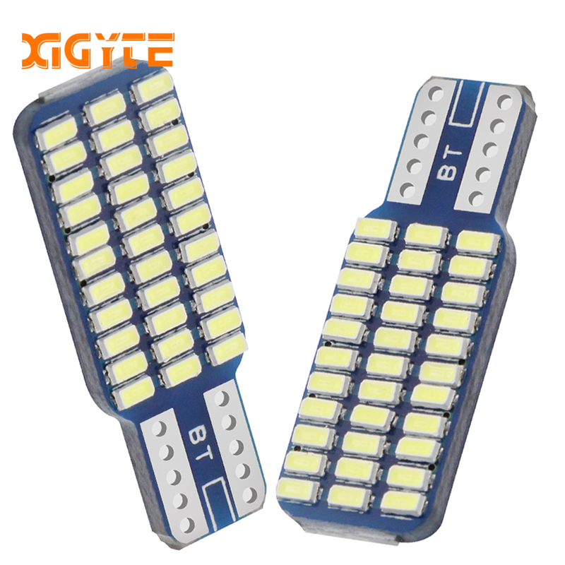 2pcs New T10 192 194 168 W5W LED Bulbs 33 SMD 3014 Car Tail Lights Dome Lamp White DC 12V Canbus Error Free Auto Accessories