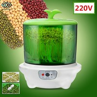220V New Automatic Bean Sprouts Machine Multifunctional Homemade Sprout Double Layer Microcomputer Control Bud Machine