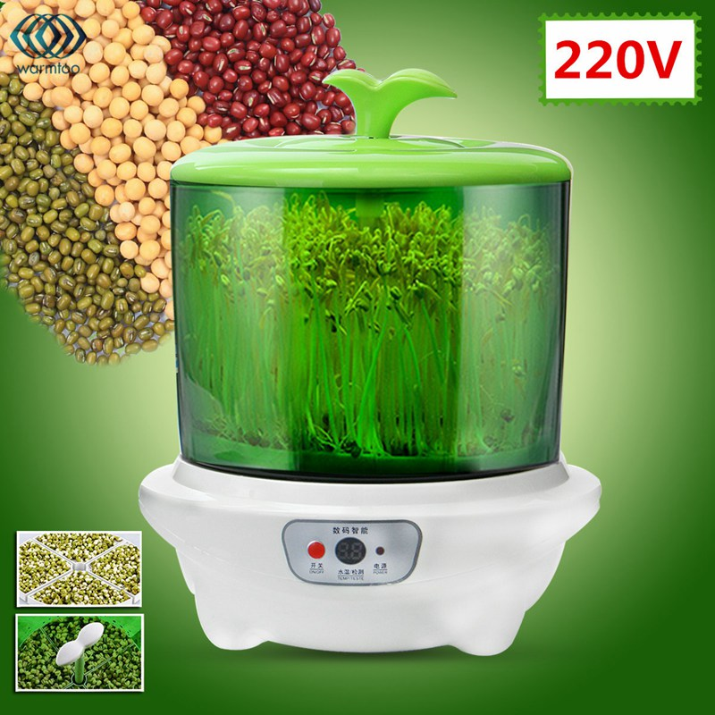 220V New Automatic Bean Sprouts Machine Multifunctional Homemade Sprout One Layer Microcomputer Control Bud Machine bean sprout machine germination intelligence home double layer nursery pots automatic bean sprouts machine kitchen electrical