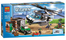 Bela 10423 Urban City Patrol Helicopter Minifigures Building Block Minifigure Toys Compatible with Legoe