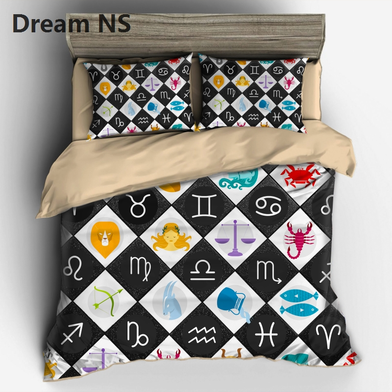 Ahsnme 12 Constellation Image Bedding Set Chic Design Bedspreads