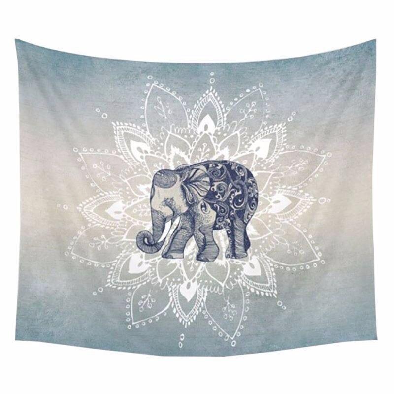 1 ps 150x130 cm Cobertores Boemia Mandala Tapeçaria De Parede Elefante Pendurado Cobertor Dormitório Home Decor Mandalas Esteira de Praia