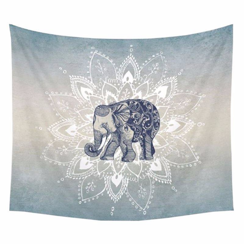 1Ps 150x130cm Bohemia Mandala Blankets Tapestry Elephant Wall Hanging Blanket Dorm Home Decor Mandalas Beach Mat