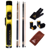 CUESOUL Combo Set of House Bar Pool Cue Sticks 2 Cue Sticks Packed in 2x2 Hard Pool Cue Case