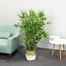 Искусственные бамбуковые 6 стеблей 1,2 м маленькие бамбуковые без горшка зеленые комнатные бонсай искусственные домашние декоративные растения