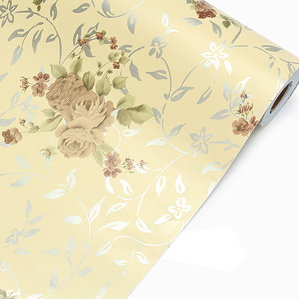 shelf liner paper yazi gilt peony flower rustic self adhesive protect paper 10342